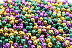 Mardi gras beads. Group of colorful Mardi Gras beads Stock Image