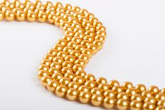 Mardi gras beads. On white background Royalty Free Stock Images