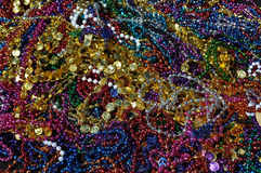 Mardi Gras Beads Background Royalty Free Stock Photography