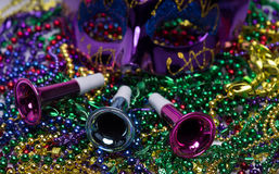 Mardi Gras Beads Royalty Free Stock Photos