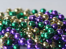 Mardi Gras Beads close up. Close up photo of mardi gras beads Royalty Free Stock Photography