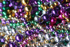Mardi Gras beads. Collection of Mardi Gras beads royalty free stock photography