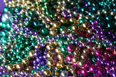 Mardi Gras beads. Collection of Mardi Gras beads stock photography