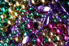 Mardi Gras beads. Collection of Mardi Gras beads royalty free stock photos