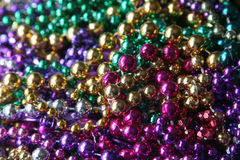 Mardi Gras beads. Collection of Mardi Gras beads stock images