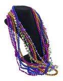 Mardi Gras Beads on a Neck Form Stock Images