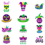 Mardi Gras beröm royaltyfri illustrationer