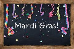 Mardi gras blackboard Stock Photo
