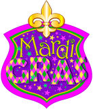 Mardi Gras blazon Royalty Free Stock Photos