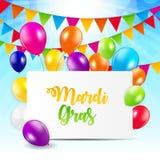 Mardi Gras Brochure Template Carte de voeux de célébration Backround Illustration de Vecor illustration de vecteur