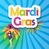 Mardi Gras Brochure Template.Celebration Greeting Card Backround. Vecor Illustration EPS10 Stock Photography