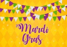 Mardi Gras Brochure Template.Celebration Greeting Card Backround. Vecor Illustration vector illustration