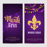Mardi gras brochures Stock Images