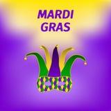 Mardi Gras broschyr royaltyfri illustrationer