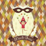 Mardi Gras card Stock Photography