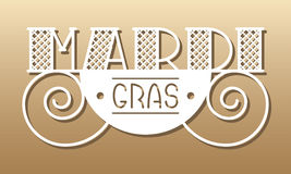 MARDI GRAS card Royalty Free Stock Photography