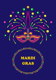 Mardi Gras carnival background Royalty Free Stock Photography