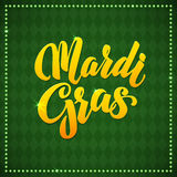 Mardi Gras Carnival Calligraphy Poster. Vector Royalty Free Stock Image