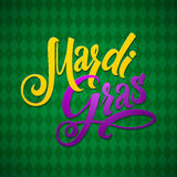 Mardi Gras Carnival Calligraphy Poster. Vector Royalty Free Stock Images