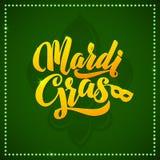 Mardi Gras Carnival Calligraphy Poster Vetor ilustração stock