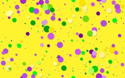 Mardi Gras carnival circles confetti background vector illustration