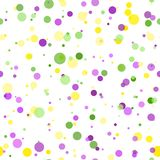 Mardi Gras carnival circles confetti background royalty free illustration