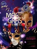 Mardi gras carnival design royalty free illustration