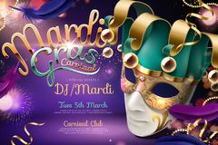 Mardi gras carnival design vector illustration