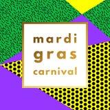 Mardi Gras carnival geometric background Stock Images