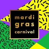 Mardi Gras carnival geometric background Stock Image
