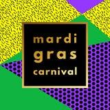 Mardi Gras carnival geometric background Royalty Free Stock Photo