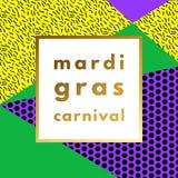 Mardi Gras carnival geometric background Royalty Free Stock Photos