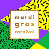 Mardi Gras carnival geometric background Royalty Free Stock Images