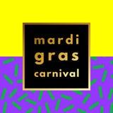 Mardi Gras carnival geometric background Stock Photos