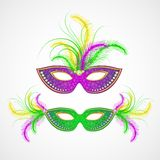 Mardi Gras carnival mask. Vector illustration Stock Images
