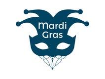 Mardi Gras. Carnival mask on a white background. Bells. Festive symbol. Vector. Illustration Royalty Free Stock Images