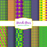 Mardi Gras carnival patterns collection Stock Image