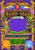 Mardi Gras Carnival Poster Illustration Carnival Mask Show Parade Royalty Free Stock Photo