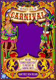 Mardi Gras Carnival Poster Invite Carnival Mask Show Parade Royalty Free Stock Photos