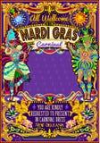 Mardi Gras Carnival Poster Theme Carnival Mask Show Parade Stock Photos