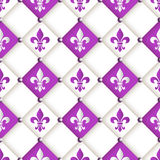 Mardi Gras Carnival seamless pattern with fleur-de-lis. Stock Photography