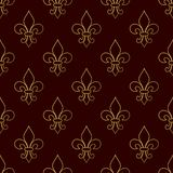 Mardi Gras Carnival seamless pattern with fleur-de-lis. Vector illustration EPS10. Royalty Free Stock Image
