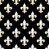 Mardi Gras Carnival seamless pattern with fleur-de-lis. Mardi Gras endless background, texture, wrapper. Royalty Free Stock Photography