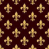 Mardi Gras Carnival seamless pattern with fleur-de-lis. Vector illustration EPS10. Mardi Gras Carnival seamless pattern with fleur-de-lis. Mardi Gras endless Stock Images