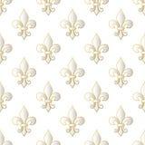Mardi Gras Carnival seamless pattern with fleur-de-lis. Vector illustration EPS10. Mardi Gras Carnival seamless pattern with fleur-de-lis. Mardi Gras endless Royalty Free Stock Photo