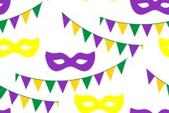 Seamless pattern for carnival, festival royalty free stock photography