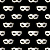 Mardi Gras Carnival seamless pattern with masks. Mardi Gras endless background, texture, wrapper. Vector illustration EPS10 Stock Photos