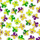 Mardi Gras carnival set, masquerade vector seamless pattern royalty free stock image