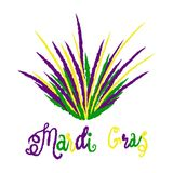 Mardi Gras carnival set, masquerade vector illustration isolate royalty free stock photos