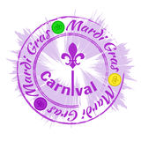 Mardi Gras Carnival zegel Royalty-vrije Stock Afbeelding